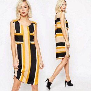 Sisley Shirt Dress in Colour Block Stripe Shirttai
